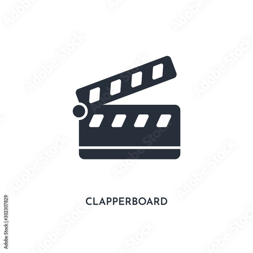 Canvas Print clapperboard icon