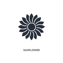 Sunflower Icon. Simple Element...