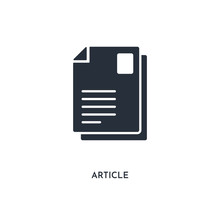 Article Icon. Simple Element I...
