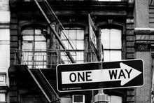 One Way Signs At A Soho Intersection In New York, NY, United States