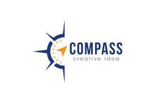 Creative Compass Concept Logo ...