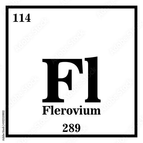 Photo  Flerovium Periodic Table of the Elements Vector illustration eps 10