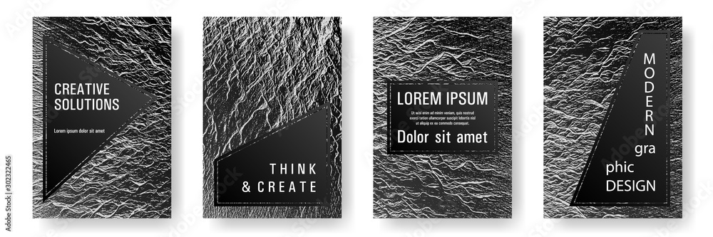 Fototapety, obrazy: Booklet design vector layouts set.