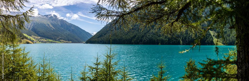 Fototapety, obrazy: Vernagt Stausee Panorama
