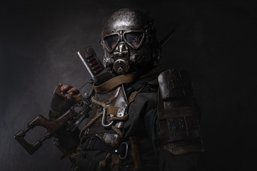 Amazing well made costume for Halloween of dark apocalypse warrior.