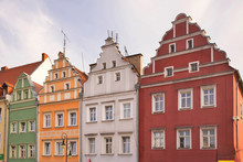 Market Square In Zagan. Poland