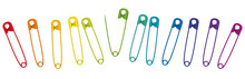 Colorful Safety Pins. Set Of 1...