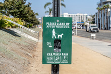 Dog Waste Station In The Middl...