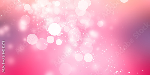 Obraz Pink blur abstract background. bokeh christmas blurred beautiful shiny Christmas lights - fototapety do salonu