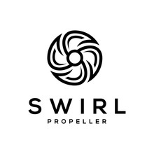 Abstract Letter S Logo For With Swirl Propeller Design Template