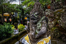 Temples Of Bali, Beautiful Stone Sculpture, Indonesia.