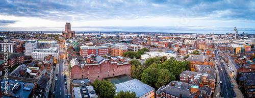 Obraz Aerial view of Liverpool Metropolitan Cathedral, England - fototapety do salonu