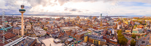 Obraz Aerial view of Radio city tower in Liverpool, England - fototapety do salonu