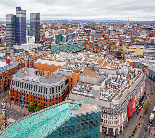Photo  Aerial view of Manchester in the autumn, United Kingdom
