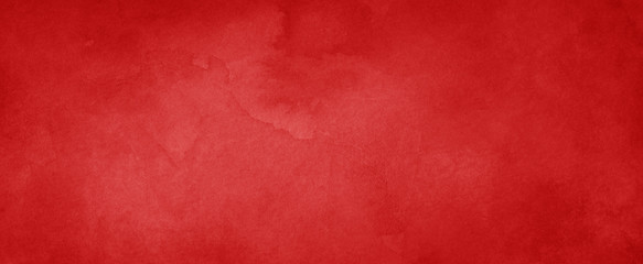 Red background with texture and distressed vintage grunge and watercolor pain...