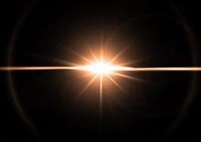オレンジ色の光線
