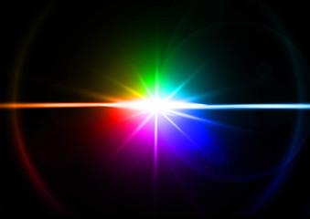 虹色の光線