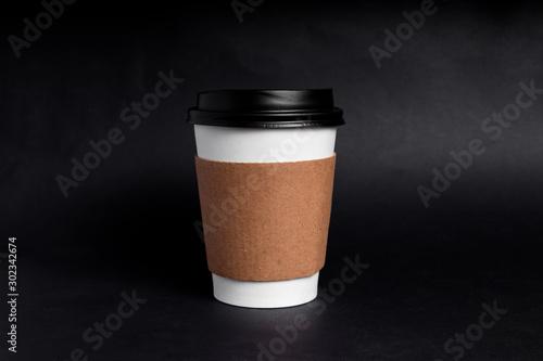 Fotografering taza de café de papel desechable con funda
