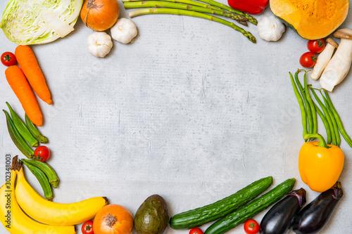 Fototapeta 野菜・果物のフレーム obraz