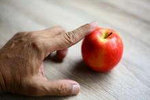 Fresh Apples On The Wood Floor