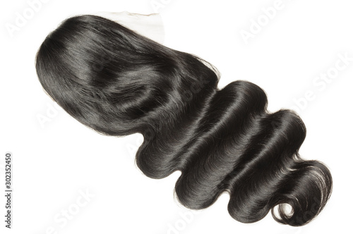 Photo body wave wavy black human hair weaves extensions lace wigs