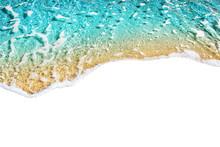 Blue Sea Wave Tide Pattern On ...