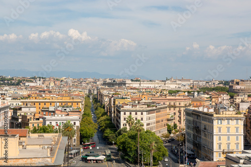 Poster de jardin Paris View of Rome from the windows of the Vatican Museum