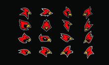 Set Of Cardinal Bird Logo Icon Design Vector
