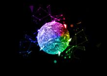 抽象的な球体