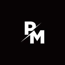 PM Logo Letter Monogram Slash ...