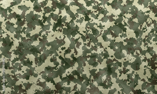 Cuadros en Lienzo Army Camouflage texture background surface