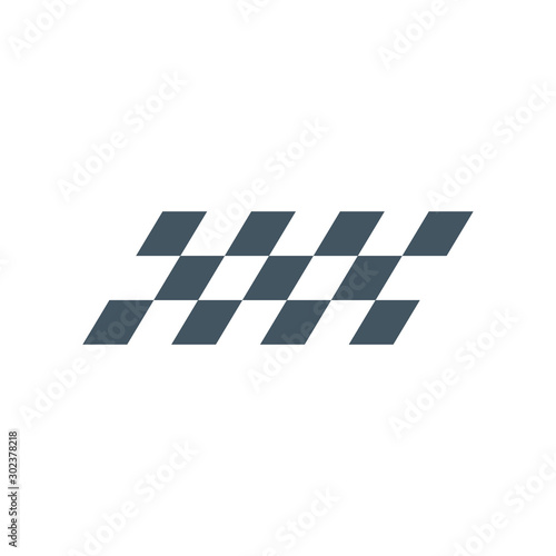 Photo sur Toile F1 F1 Checkered symbol or flag, finish line. Stock Vector illustration isolated on white background.