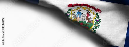Obraz na plátně  Fabric texture of the West Virginia Flag background - flag on white background -