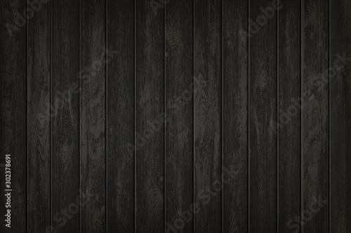 Fototapeta Texture of black wooden background. Vector template obraz na płótnie