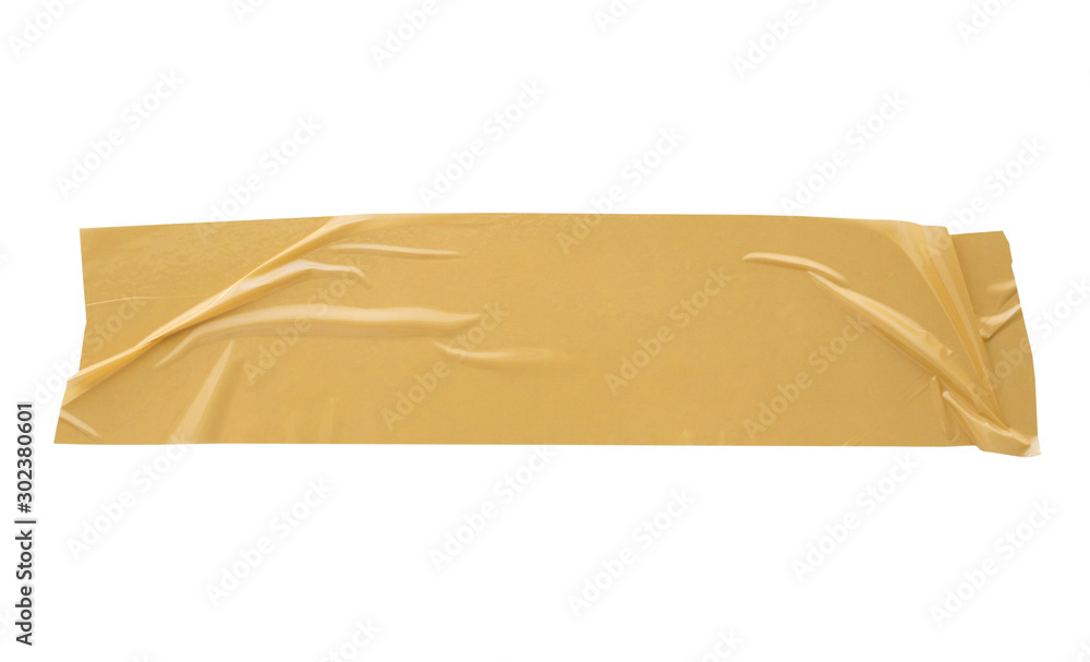 Fototapety, obrazy: Brown adhesive tape isolated on white background