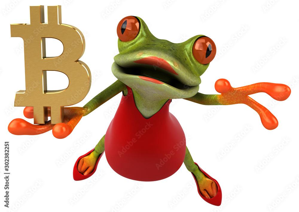 Fototapety, obrazy: Fun frog - 3D Illustration