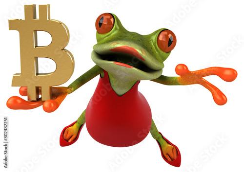 Fotografie, Obraz Fun frog - 3D Illustration