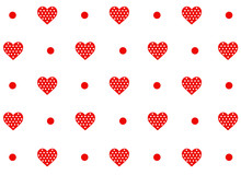 Simple Red Hearts Vector Patte...
