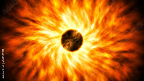 Obraz Powerful explosion blast supernova from scratch - fototapety do salonu