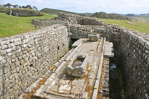 Fotomural Roman remains at Housesteads, Northumberland
