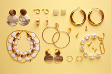 Stylish Female Jewelry On Colo...
