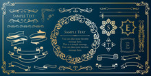 Print Beautiful Decorative Material With A Sense Of Quality. Decoration. Greeting Card. Premium Decoration. Ticket Design. Antique Ruled Lines. High-quality Box Border. Design Template.