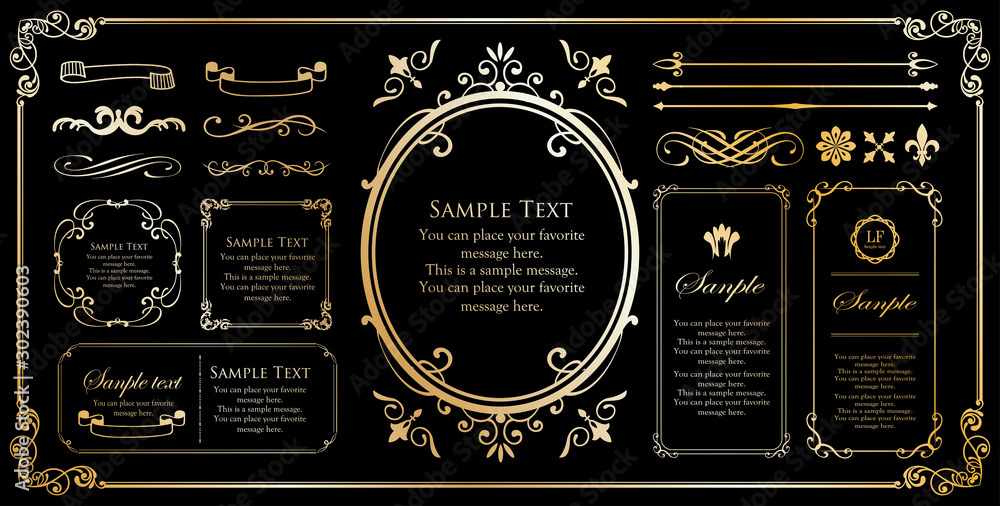 Fototapeta Print Beautiful decorative material with a sense of quality. Decoration. greeting card. Premium decoration. Ticket design. Antique ruled lines. High-quality box border. Design template.