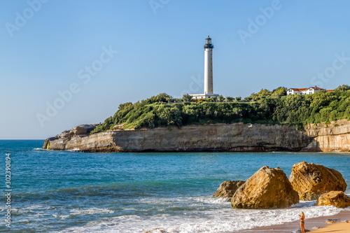 Biarritz Lighthouse (Faro de Biarritz) on the cliff Canvas Print