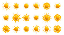 Big Set Of Realistic Sun Icon ...