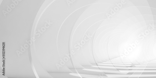 Abstract white tunnel background - 302394628