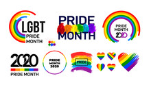 Set Of LGBT Pride Month 2020. ...