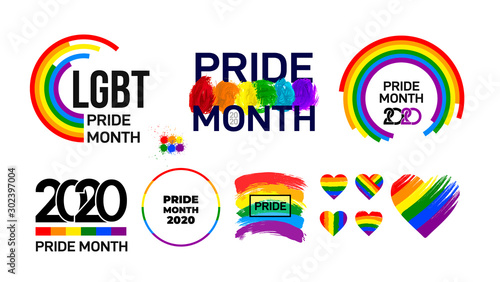 Fotomural Set of LGBT Pride Month 2020