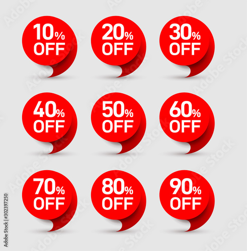 Fotomural  Set of sale of special offers