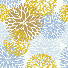 Floral Seamless Pattern In Pastel Colors. Seamless Pattern Can Be Used For Wallpaper, Pattern Fills, Web Page Background, Textile, Web And Other Design